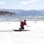 Lake Tahoe Beach Snowkiting 3