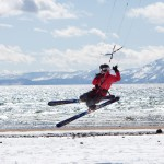 Lake Tahoe Beach Snowkiting 4