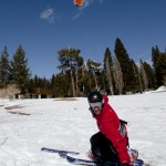Lake Tahoe Beach Snowkiting 5