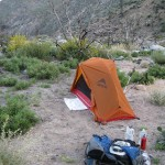 MSR Hubba Tent and the Deuter ACT Lite 65 in action