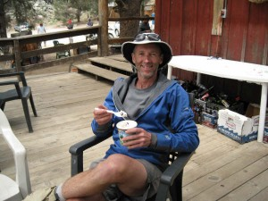 Mike Refueling on the Trail