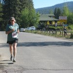 Tahoe Local Kathryn Dunning running to the beach
