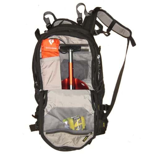 The Avalanche Safety Gear Pocket on the Deuter Freerider Pro 30
