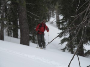 Jeff making some turns on the way down Rubicon