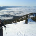 Lake Tahoe fog with me and my Pieps skinning up