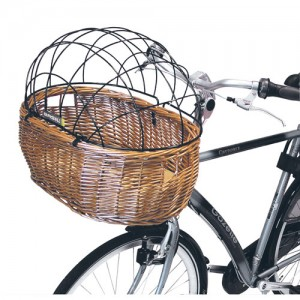Basil Pluto Pet Carrier Bike Basket on Bike