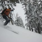 Jim skiing the powder