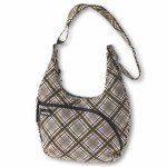 Kavu Sydney Satchel Shoulder Bag in the Color Pink Plaid