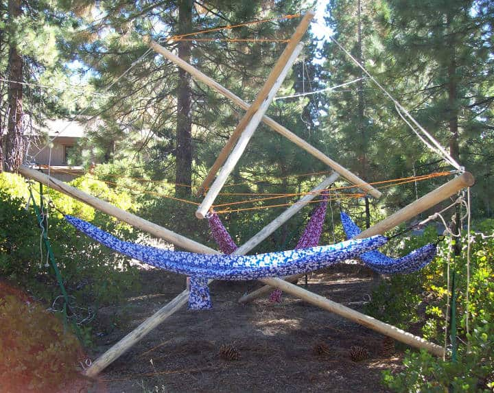 tensegrity shade structure