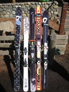 Demo fleet from Folsom Custom Skis
