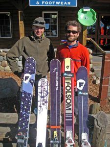 Some of the selection from Folsom Custom Skis