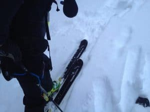 Folsom BlueNote Skis on the way up