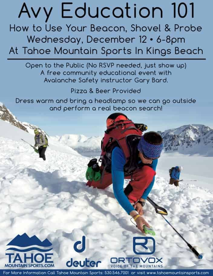 Avalanche Education in Tahoe