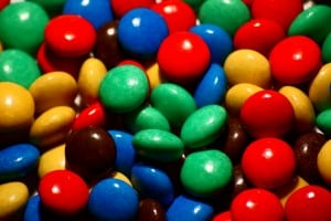 m&m's - candy for trail mix