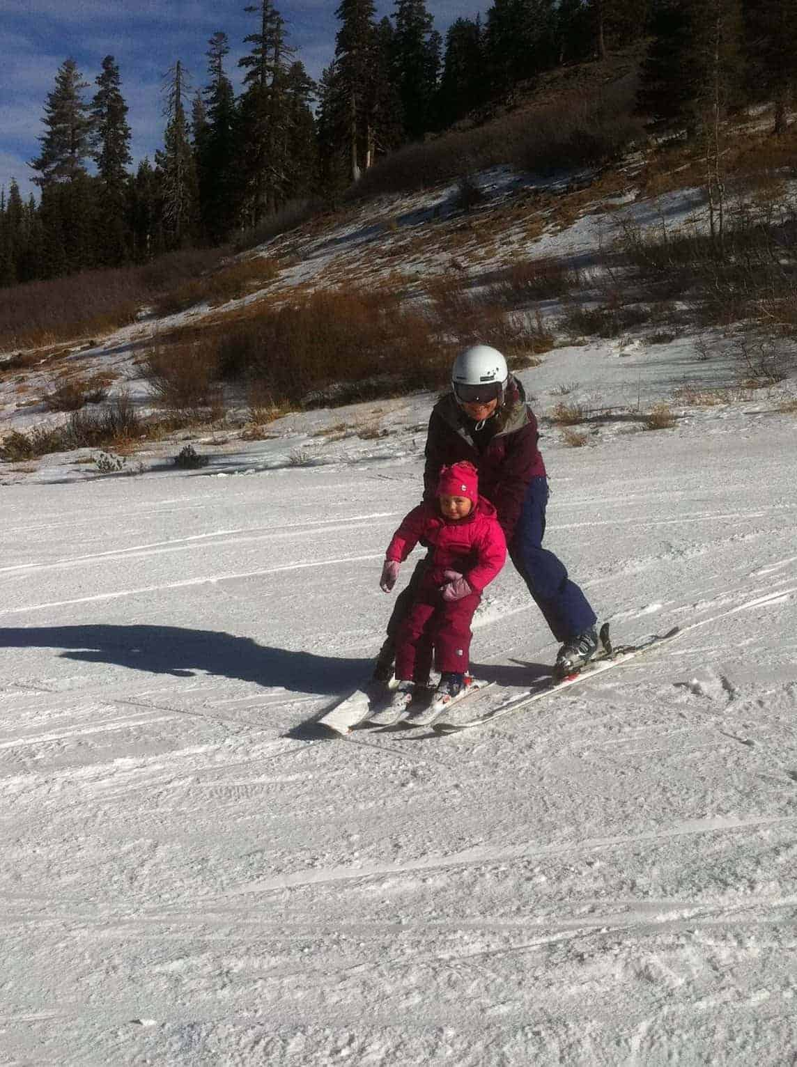 skiing with toddler
