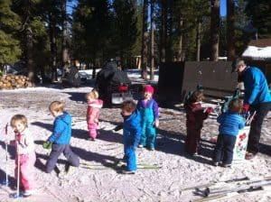 Kids at Tahoe Cross Country