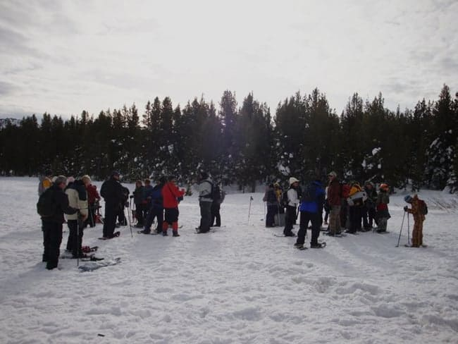 free guided snowshoe hike tahoe