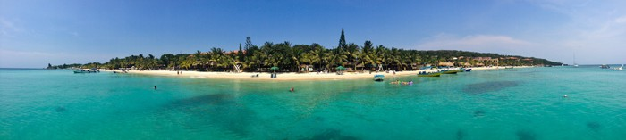 roatan west bay panorama