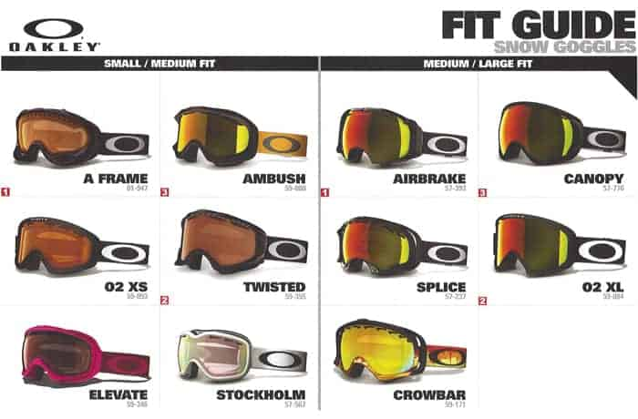 snowboarding oakley goggles  Types Of Oakley Goggle Lens Tints \u0026 Goggle Size Fitting Guide ...
