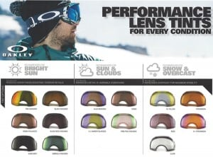 Types Of Oakley Goggle Lens Tints Amp Goggle Size Fitting