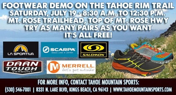 Free Footwear Demo Tahoe Rim Trail