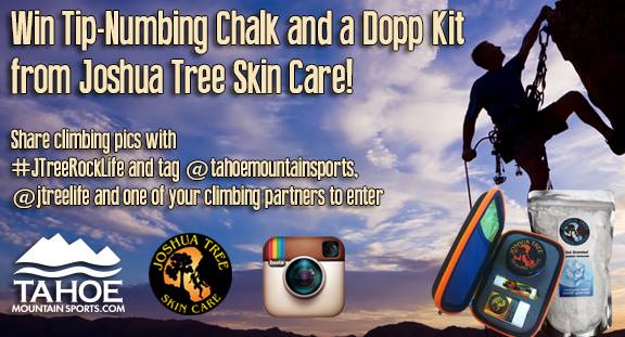 Win Tip-Numbing Climbing Chalk and a Dopp Kit from Joshua Tree Skin Care!