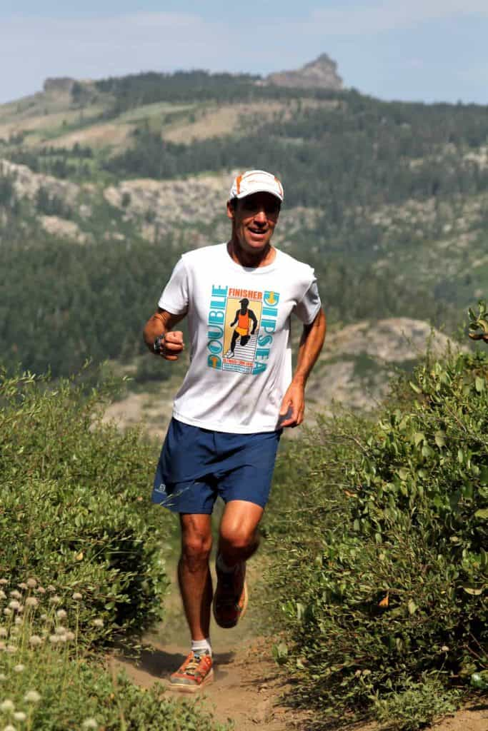 Jeff Schloss training for the Sierra Crest 50K.