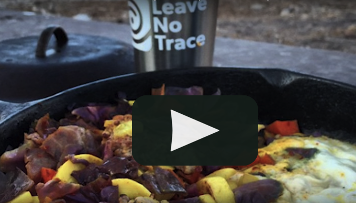 Click on the photo to learn more about leave-no-trace cooking techniques.