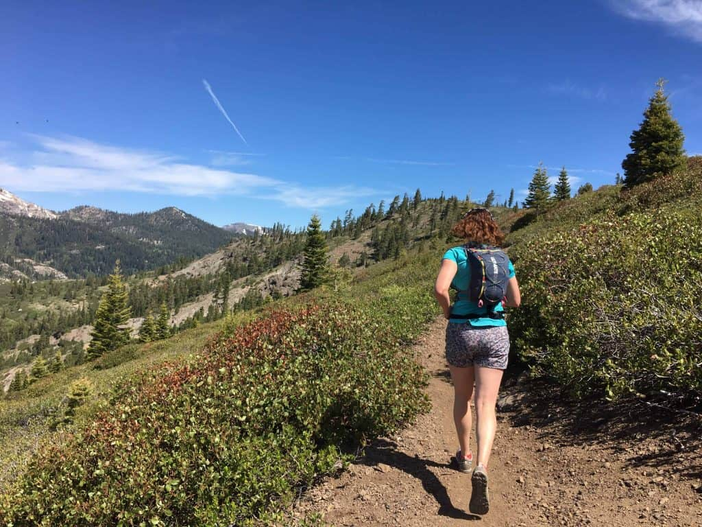Previewing more Sierra Crest Ultra Run trail! Photo credit: Garrett McCullough