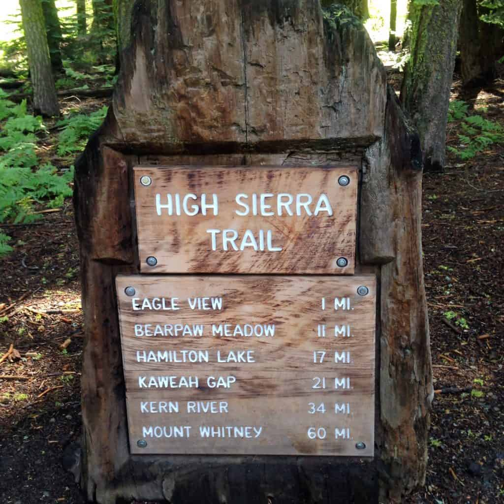 High Sierra Trail Sign....Here we go!