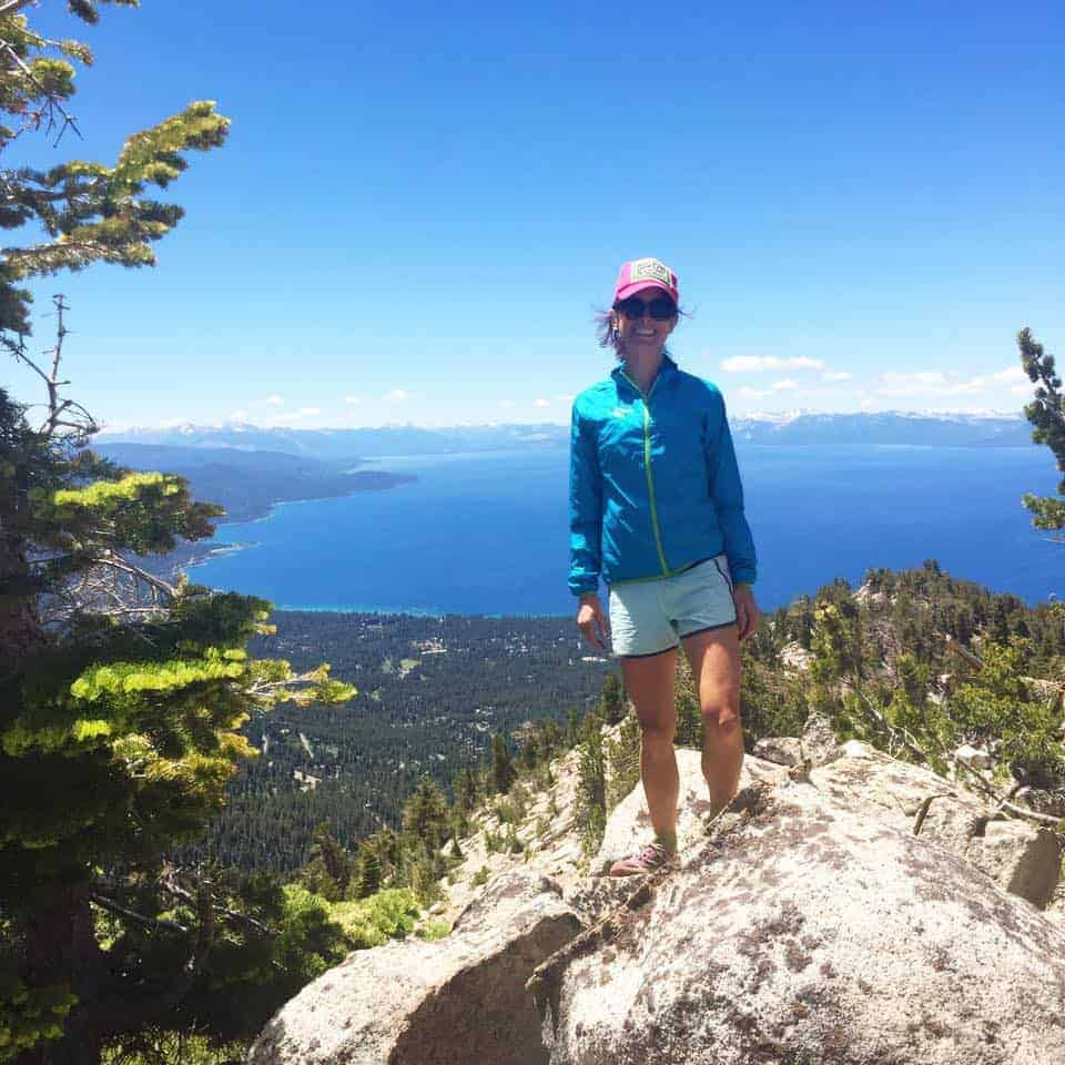 The author enjoying the views overlooking Lake Tahoe from the Mt. Rose area.