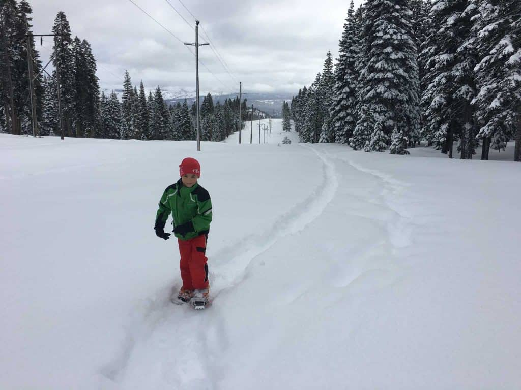 Kids of all ages love to snowshoe and simply play in the snow! Photo credit: Helen Pelster