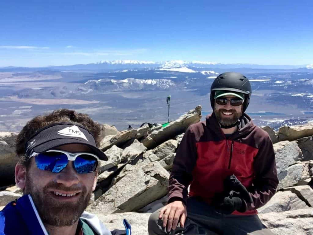 Jeff and Dave on Gibbs Summit