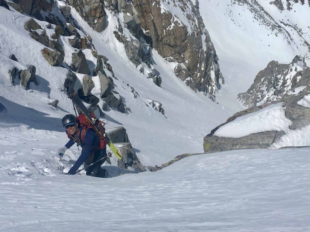 Zack coming up through the final crux