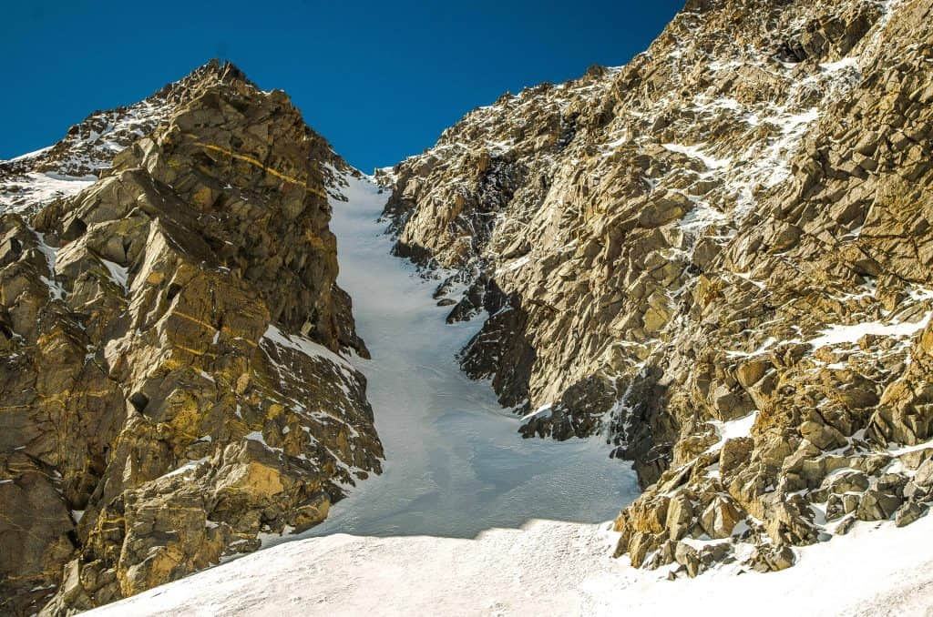 North couloir of Mt. Emerson