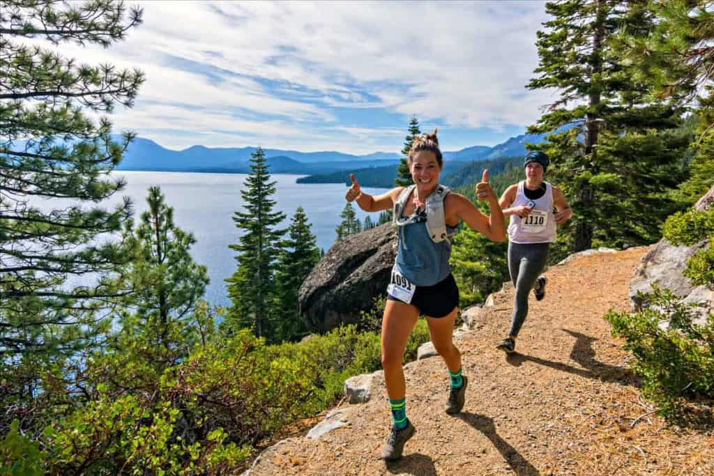 Thumbs up on the Emerald Bay Trail Run
