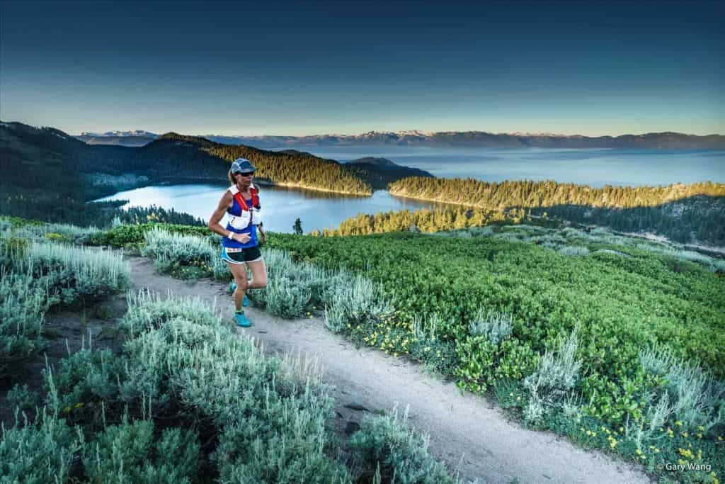 Sunrise on the Tahoe Rim Trail Endurance Run