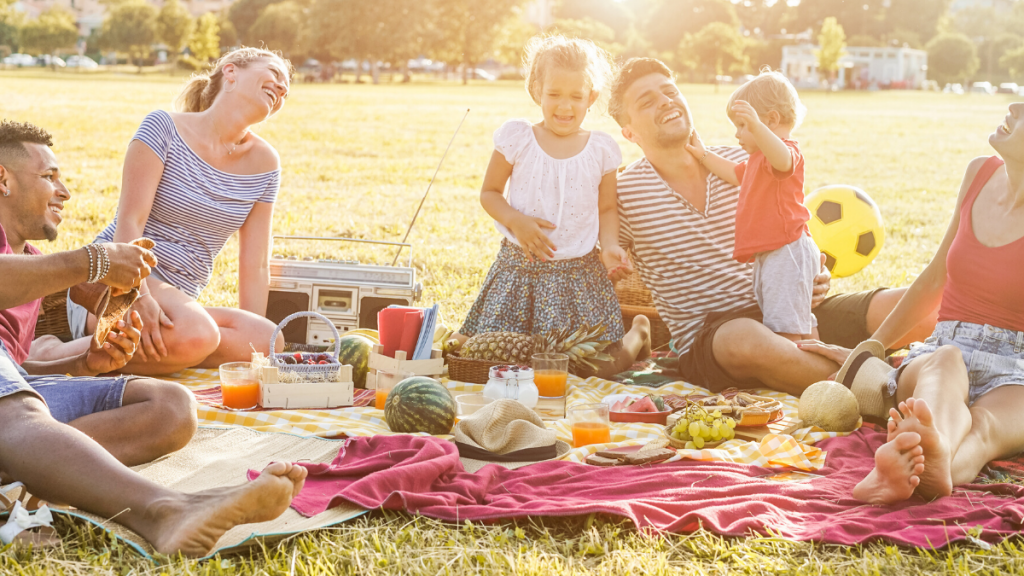 family outdoor picnic