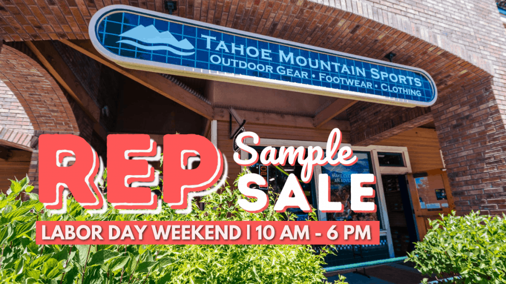 Shop the Tahoe Mountain Sports Labor Day Rep Sample Sale.