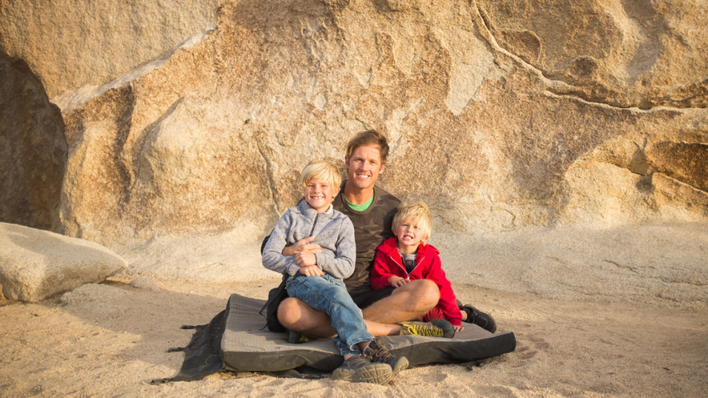Bouldering is a great family activity with kids in Truckee and Lake Tahoe.