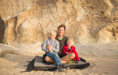 Bouldering in Truckee is perfect for families with kids!