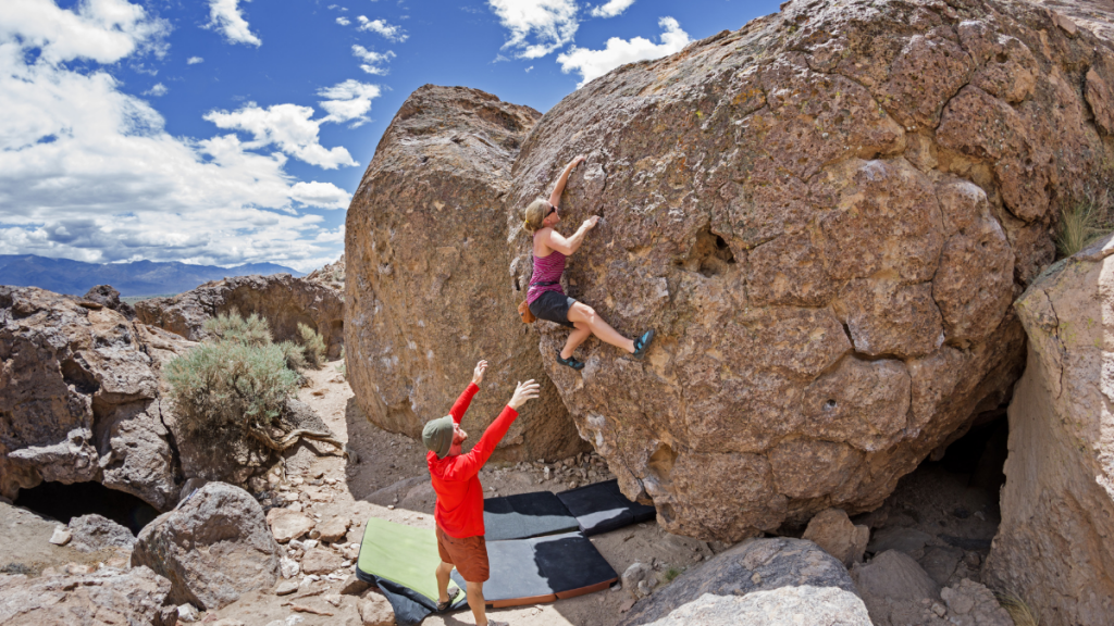 You'll need a spotter for bouldering in Truckee-Tahoe.